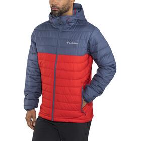 Columbia Powder Lite Hooded Jacket Men Red Spark/Dark Mountain